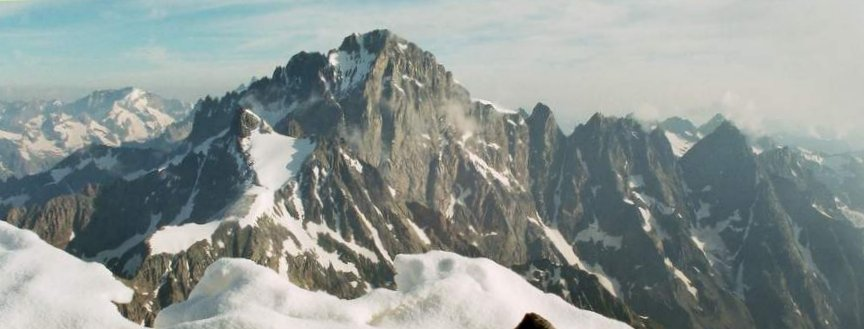 South Face of Barre des Ecrins ( 4102 metres ) in the French Alps