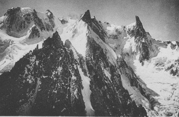 Dom de Rochefort ( 4015 metres ) in the Mont Blanc Massif