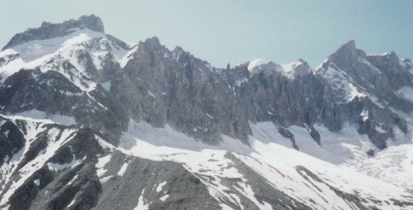 Rochefort Ridge in the Mont Blanc Massif