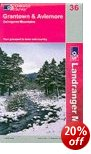 Aviemore, Granton & Cairngorm Mountains OS Map