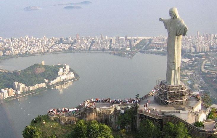 Corcovado, statue of Christ, overlooking Rio de Janeiro, capital city of Brazil in South America