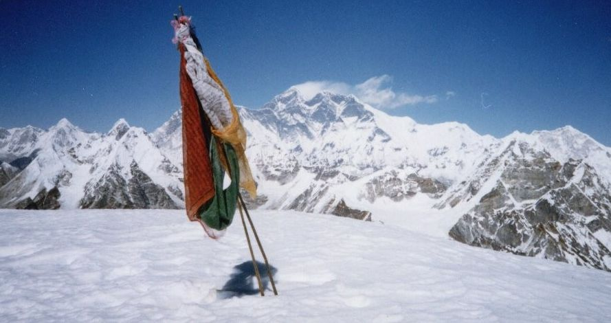 Everest from summit of Mera Peak
