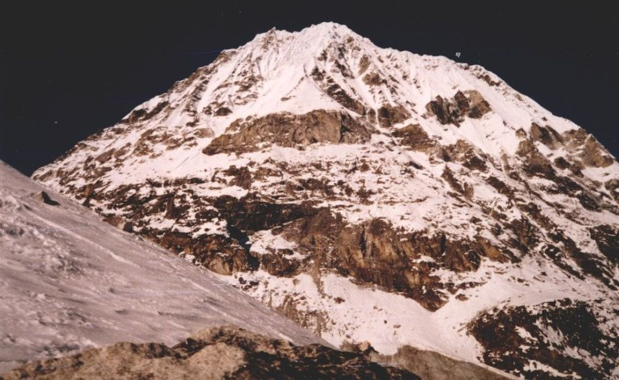 Ganshempo on descent from Tilman's Pass across the Jugal Himal into the Langtang Valley