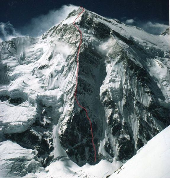 Ascent route on Talung