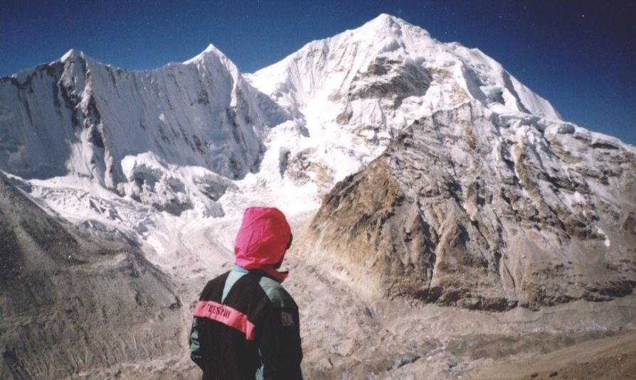 Baruntse from above Makalu Base Camp