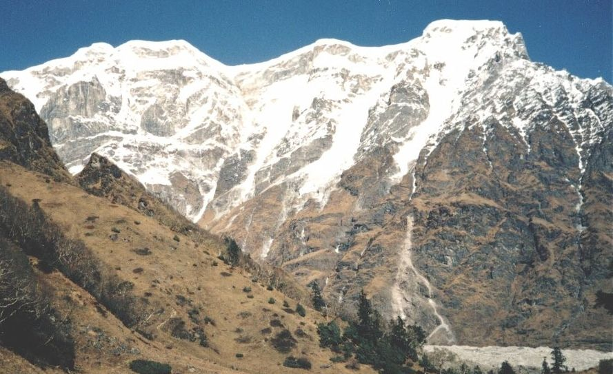 Himal Chuli on descent from Rupina La to Chhuling Valley