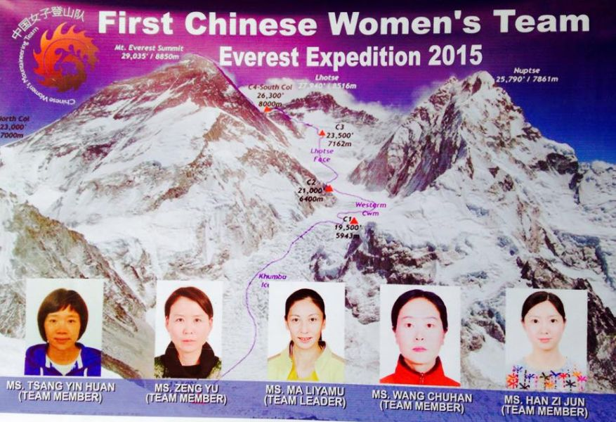 Members of the Chinese Women Expedition to Mount Everest