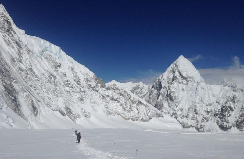 Western Cwym - normal approach to Everest from Nepal side