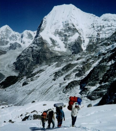 Mount Chobutse in the Rolwaling Valley of the Nepal Himalaya