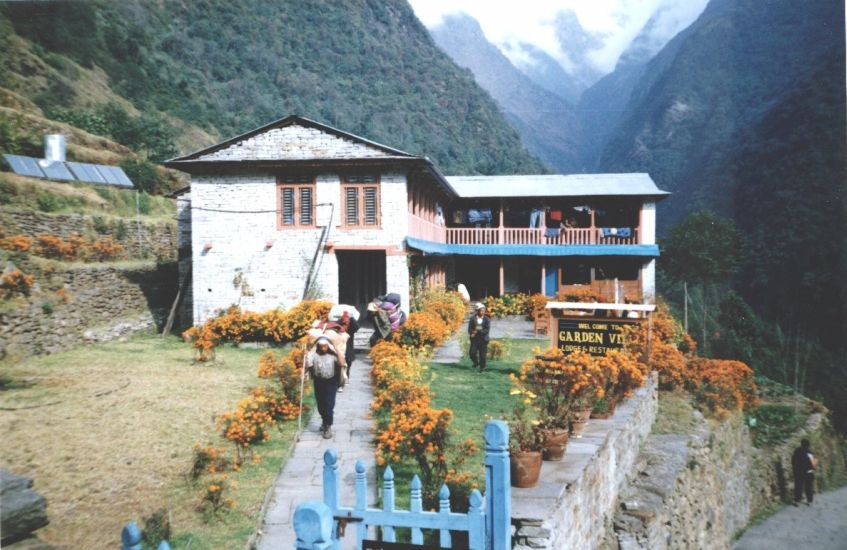 Trekking Lodge in Chomrong, Annapurna Sanctuary Trek