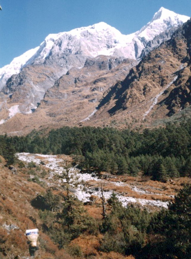 Numbur from Likhu Khola Valley