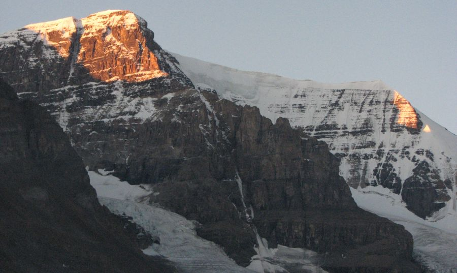 Mount Andromeda from the Athabasca Glacier in the Canadian Rockies of Alberta