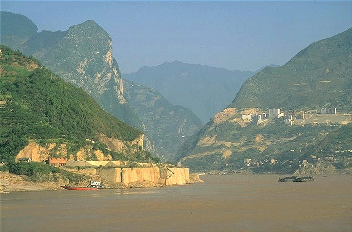 Yangtze River in Three Gorges in China