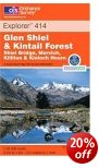 Glen Shiel & Kintail Forest - OS Explorer Map