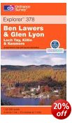 Ben Lawyers & Glen Lyon - OS Explorer Map