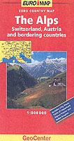 The Alps - Map - Switzerland & Austria etc