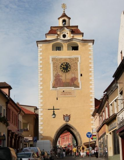Beroun Town gate in the Czech Republic