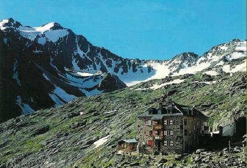 Nurnberger Hut in the Stubai Alps of the Austrian Tyrol