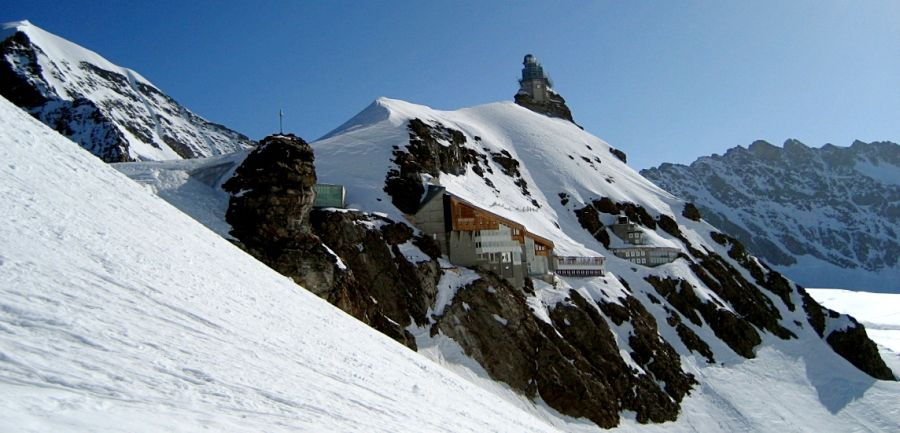 Station at Jungfraujoch beneath the Sphinx