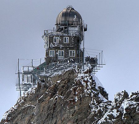 Sphinx Observatory above the Jungfraujoch