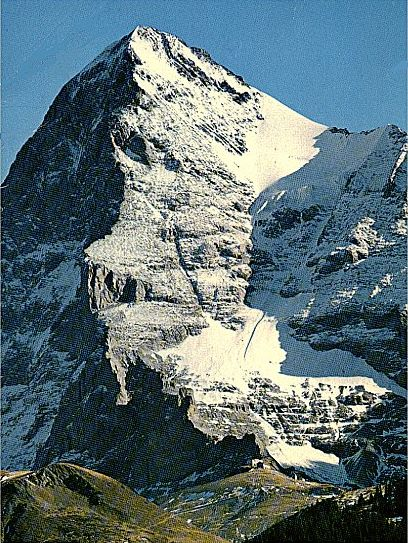 Photographs and map of the west flank of the eiger the normal alpine trinity eiger monch jungfrau reheart Images