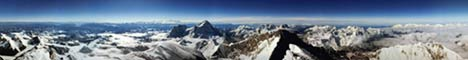 360deg panorama from summit of Everest