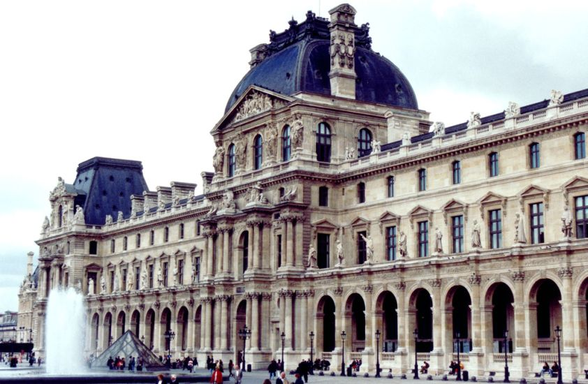 The Louvre Museum ( Musée du Louvre ) and Art Gallery in Paris