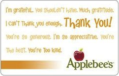 Applebees Gift Card ( £25 )
