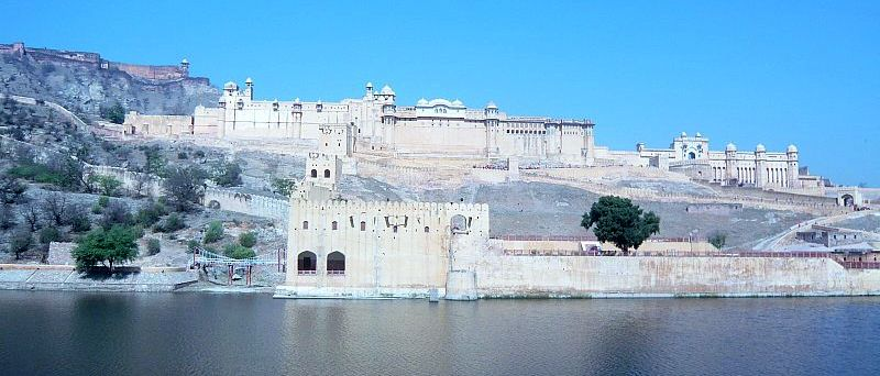 Amber Fort above Maotha Lake