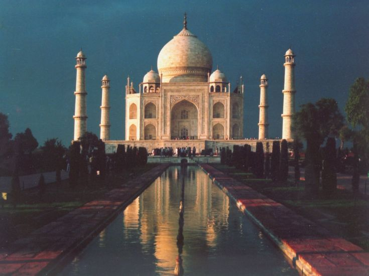 Taj Mahal in Agra, India - the finest example of Mughal architecture