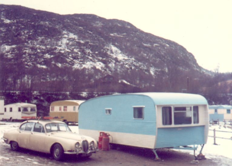 "Jaguar MK II ""S"" type at Aviemore in the Cairngorms"