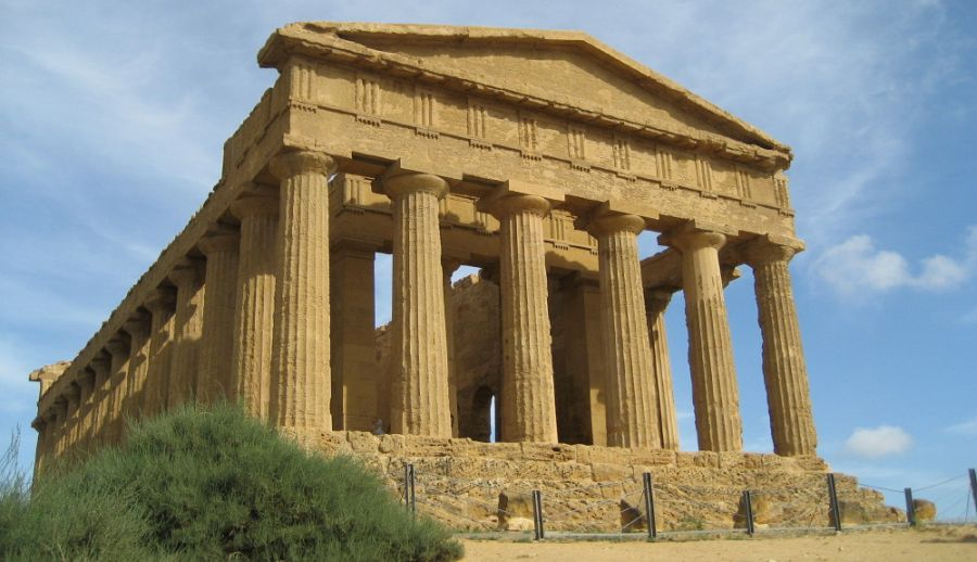 Temple of Concordia at Agrigento on Sicily in Italy