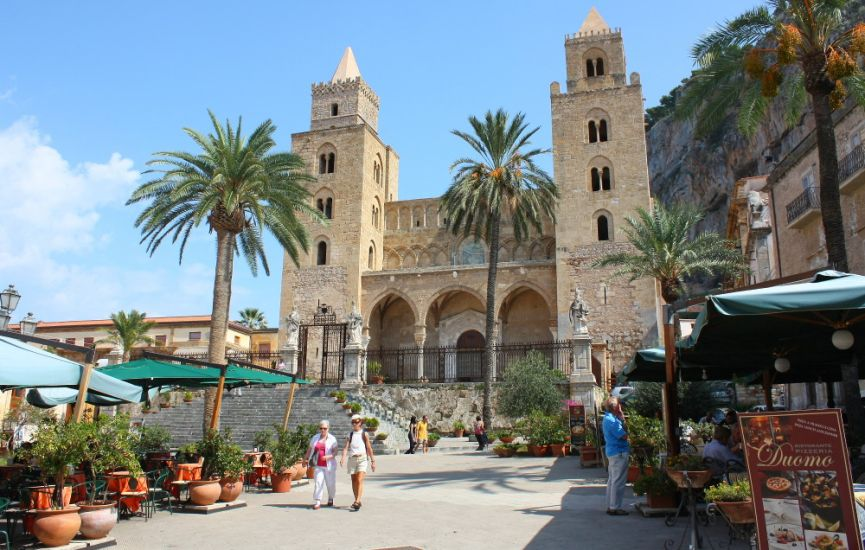 Cathedral at Cefalu on Sicily