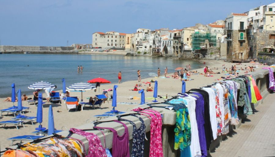 Beach at Cefalu on Sicily
