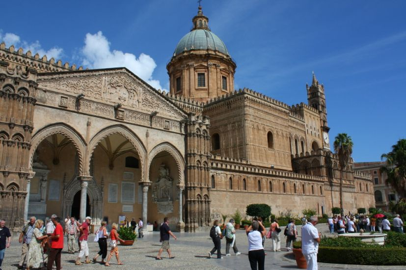 Cathedral at Palermo on Sicily in Italy