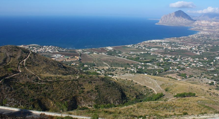View from Erice of Monte Cofano