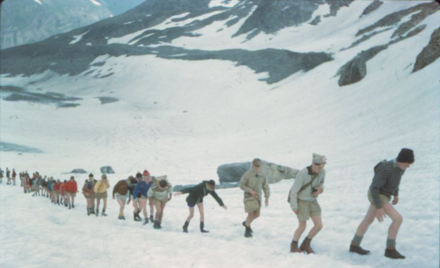 24th Glasgow ( Bearsden ) Scout Group crossing the Lotschen Pass