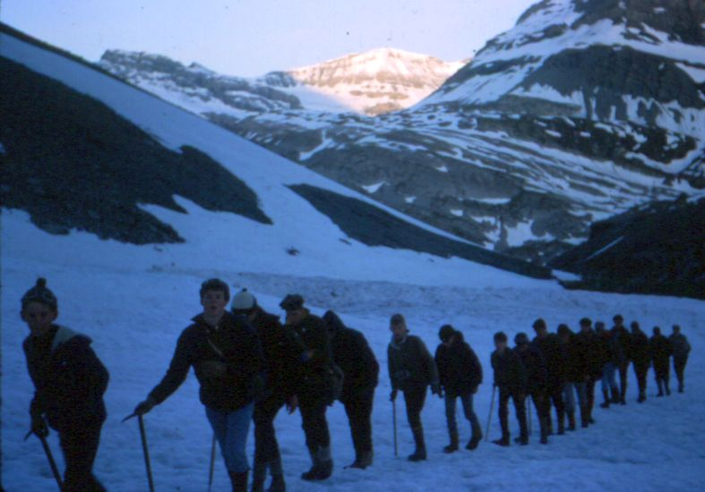 "24th Glasgow ( Bearsden ) Scout Group - Early morning ""alpine start"" on the ascent of the Rinderhorn"