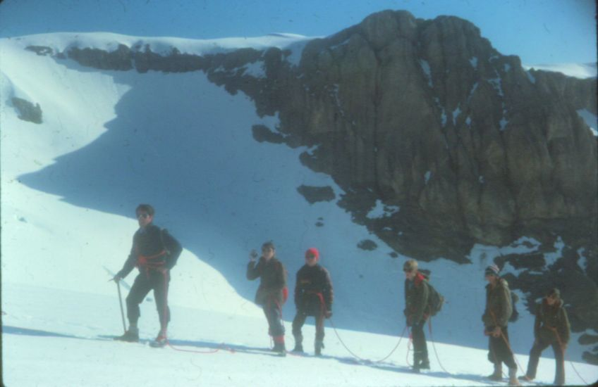 24th Glasgow ( Bearsden ) Scout Group on ascent of the Wildstrubel in the Bernese Oberlands Region of the Swiss Alps