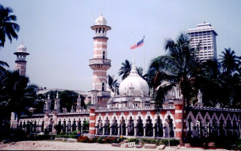 Masjid Jame, the Friday Mosque, in Kuala Lumpur
