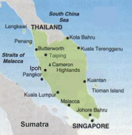 south thailand map