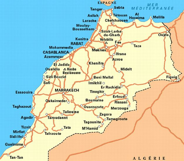 Maps Of Morocco High Atlas Rif Mountains And Marrakesh - Map of morocco