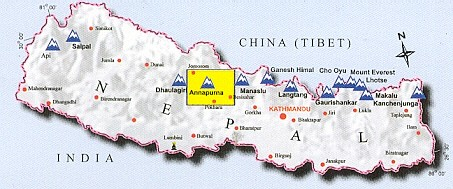 Annapurna - location map