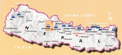 Dhaulagiri - location map