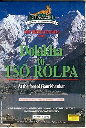 Tamba Kosi - Rolwaling Valley Map