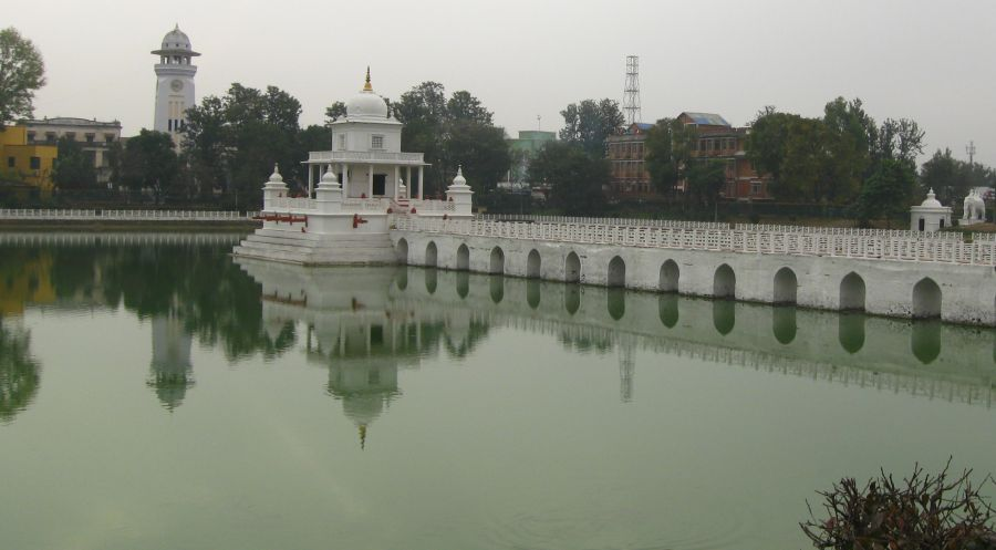 Rani Pokhari and Clock Tower in Kathmandu