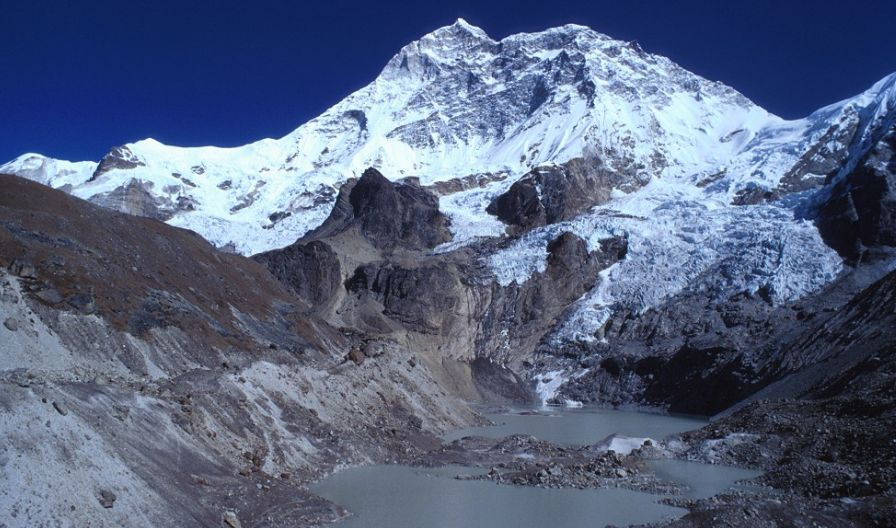 Mount Makalu in the Nepal Himalaya - the world's fifth highest mountain
