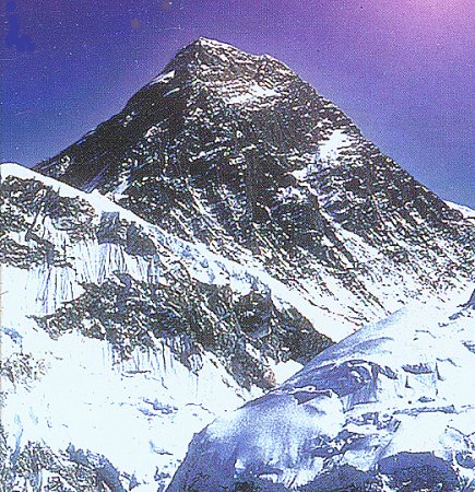 Summit pyramid of Mount Everest