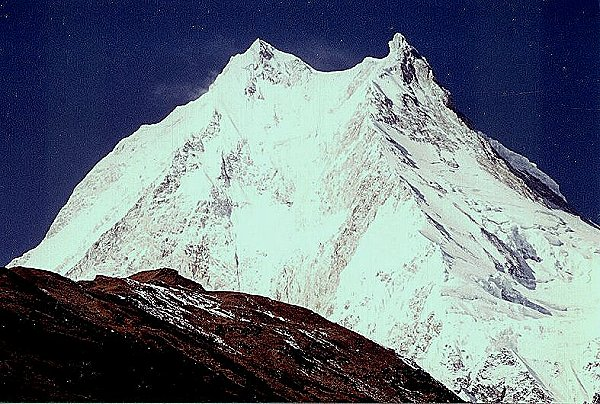 Photo Gallery of Mount Manaslu in the Nepal Himalaya - the world's eighth highest mountain