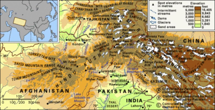 Karakoram Mountains World Map Images & Pictures - Becuo.